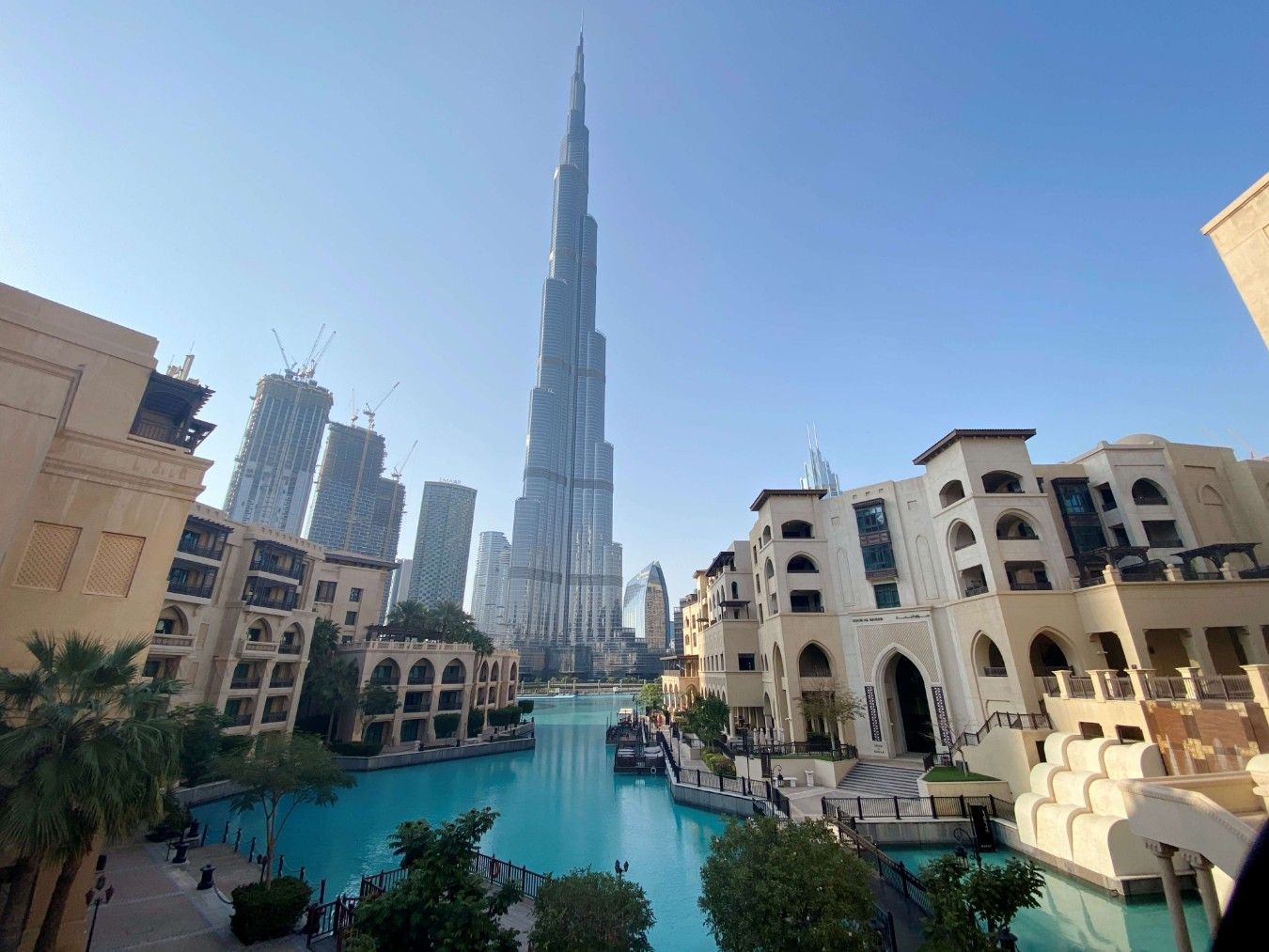 A view of the area outside the Burj Khalifa, the world's tallest building, mostly deserted, after a curfew was imposed to prevent the spread of the coronavirus disease, in Dubai, March 25. (Reuters)