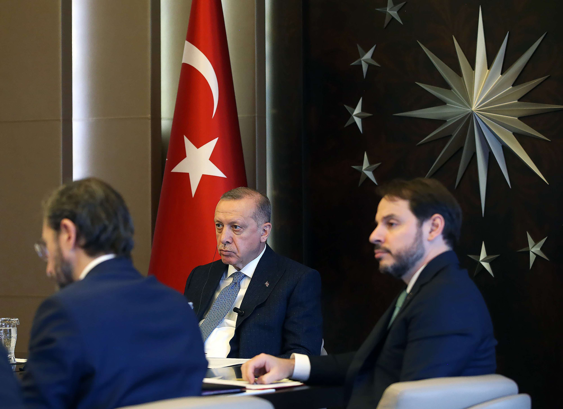 Fuelling concern. A file picture shows Turkish President Recep Tayyip Erdogan (R) taking part via a video conference in Extraordinary Virtual G20 Leaders' Summit in Istanbul, last March. (AFP)