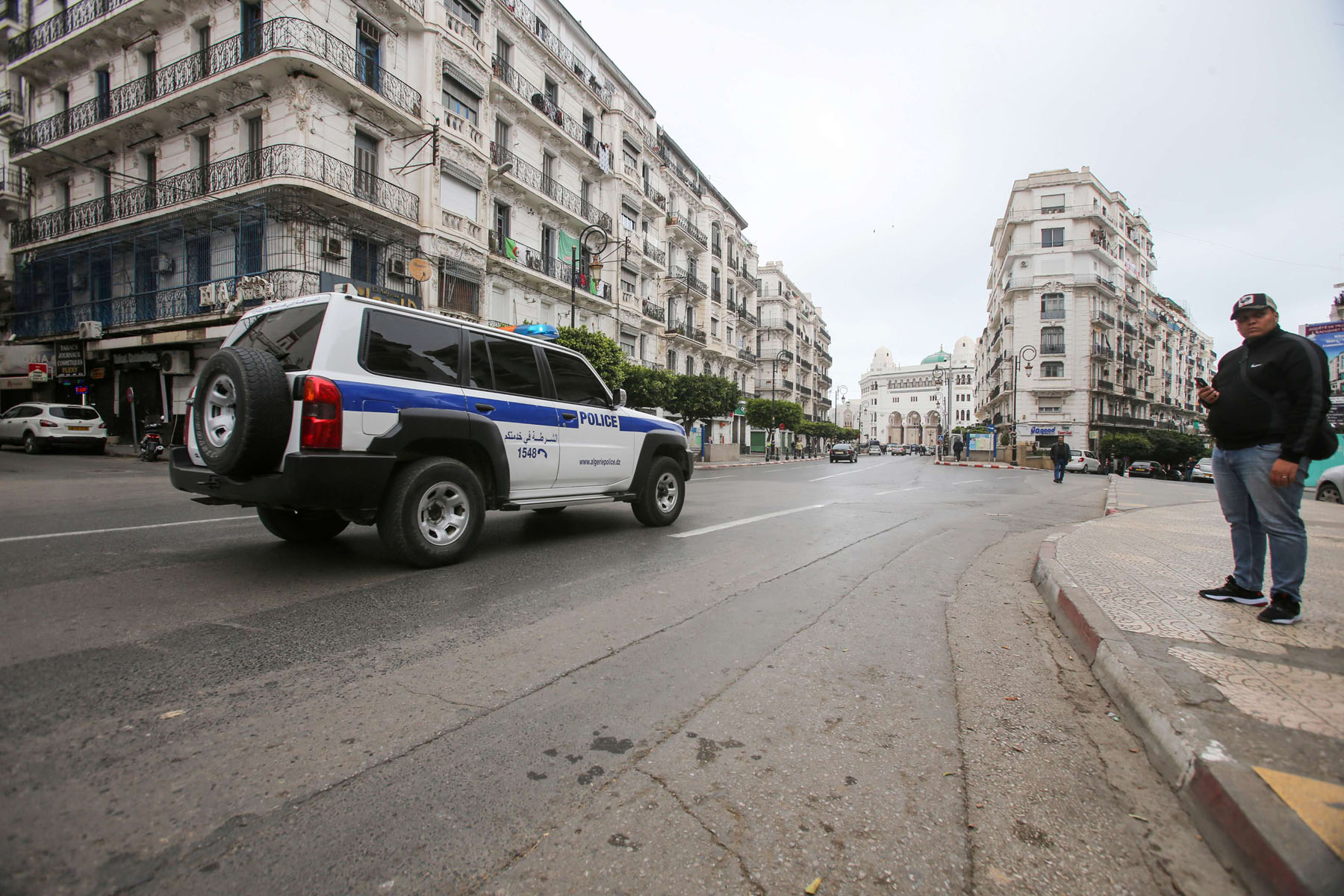 A general view shows empty streets in Algiers after anti-government protests were suspended, following the spread of the coronavirus pandemic. (REUTERS)