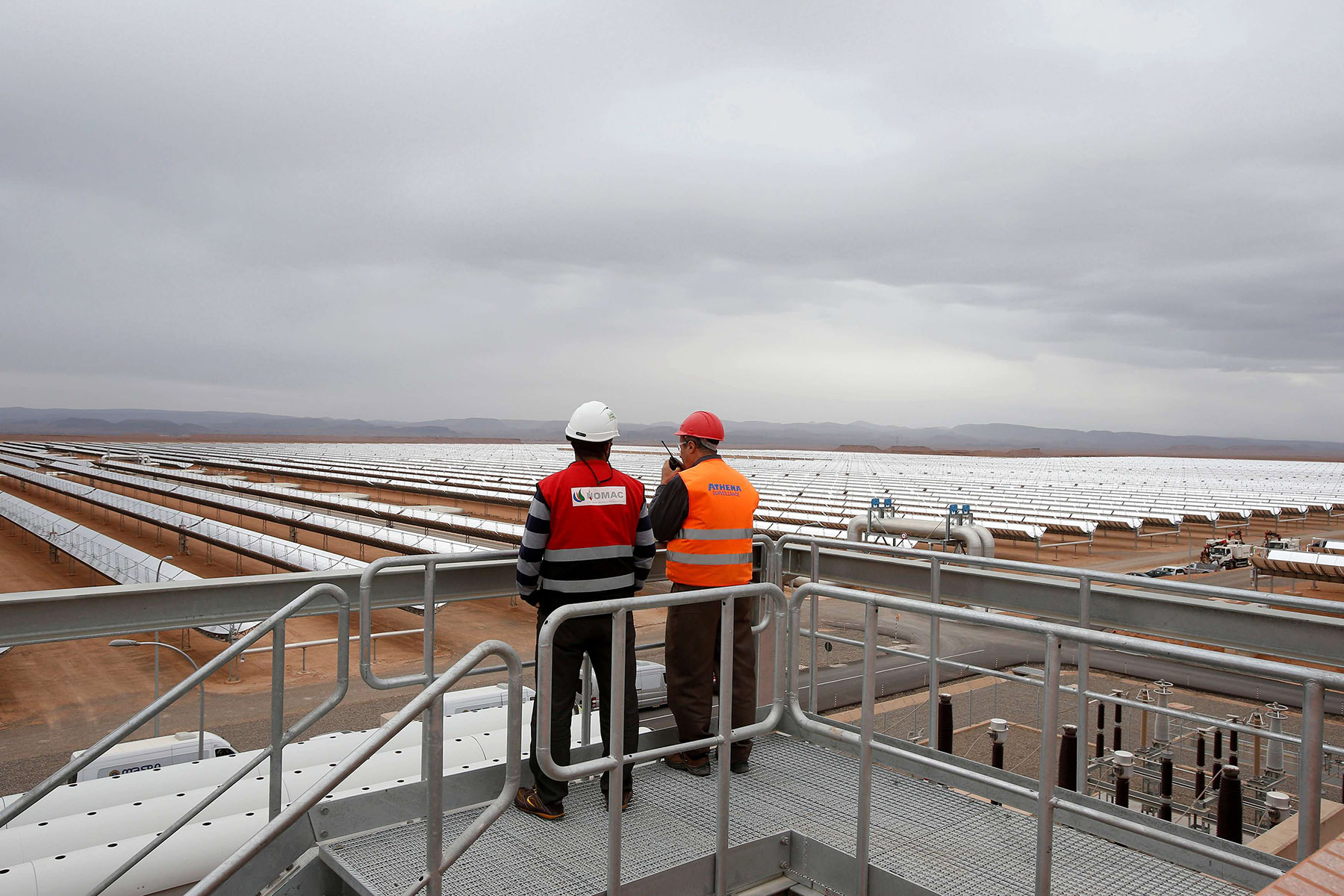 A thermosolar power plant at Noor II Ouarzazate, Morocco. (AFP)