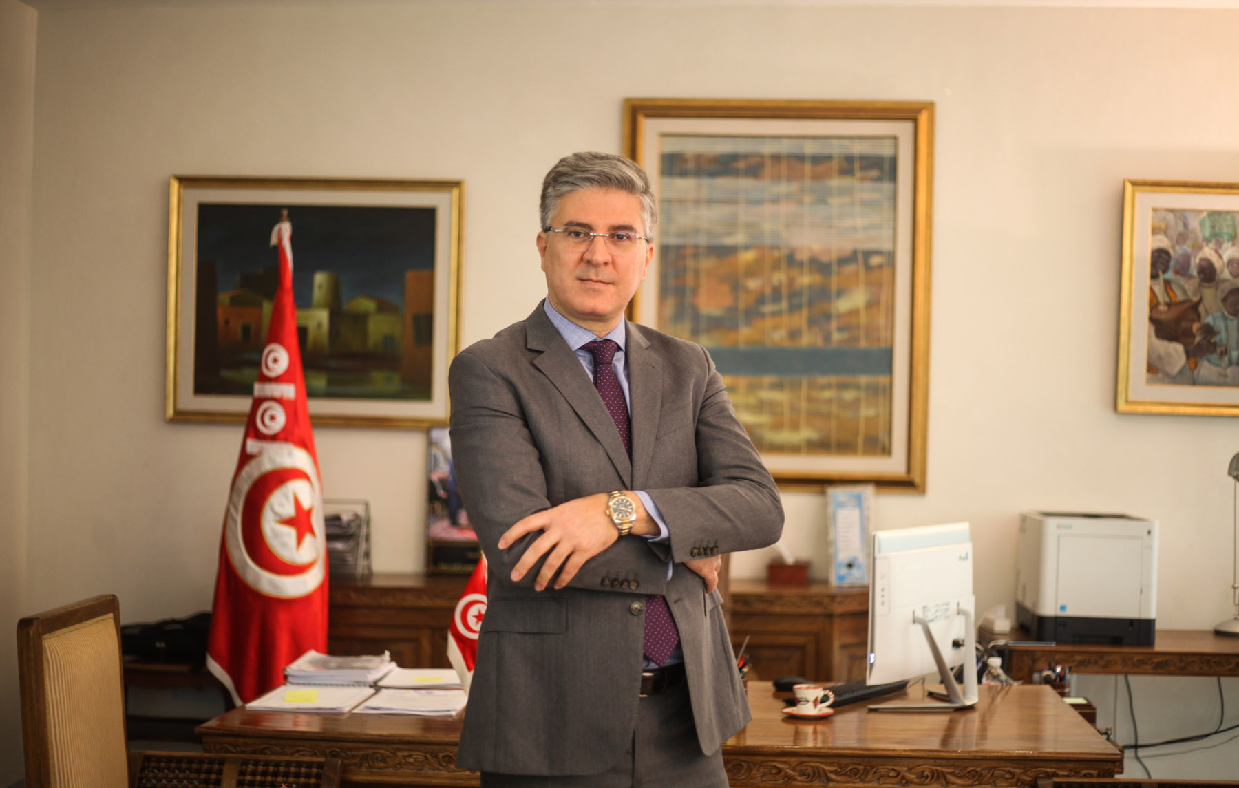 "Tunisian Minister of Tourism Mohamed Ali Toumi: ""Come and discover this country!"" (Ministry of Tourism)"