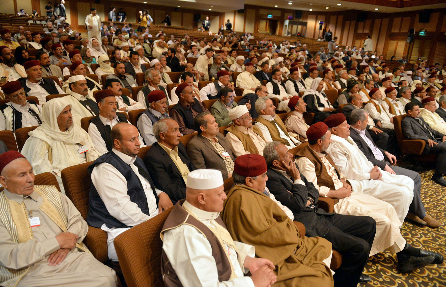A file picture of Libyan tribal representatives attending a conference in the Egyptian capital, Cairo. (AFP)