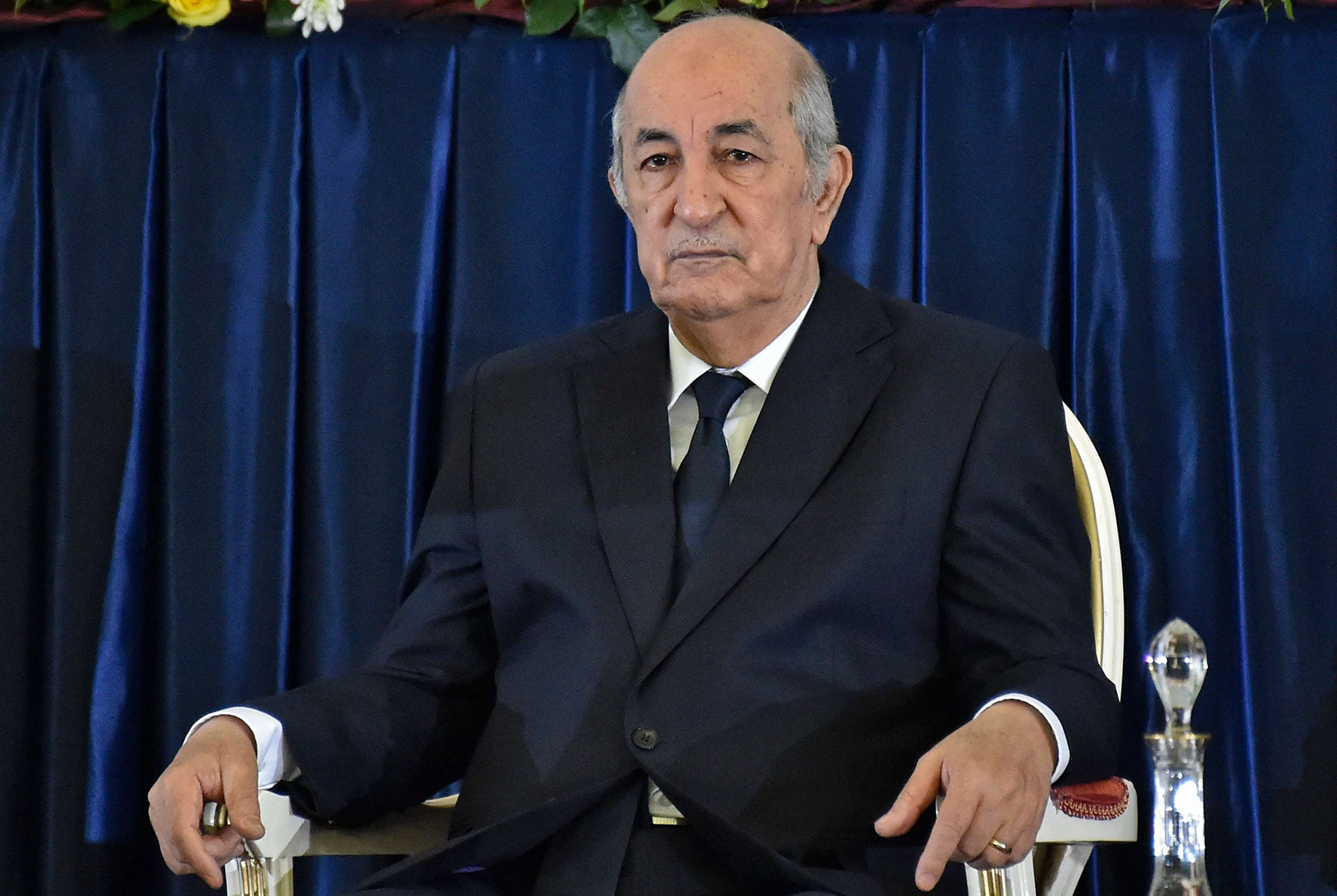 A file photo shows Algerian President-elect Abdelmajid Tebboune in the capital Algiers, on December 19, 2019. (AFP)