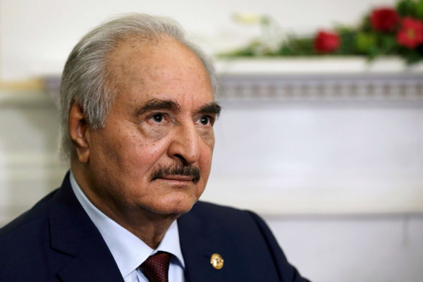 File picture of Field-Marshal Khalifa Haftar. (Reuters)