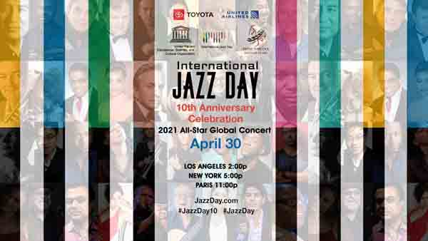 Poster of the event. The world's largest annual celebration of jazz. (https://jazzday.com)