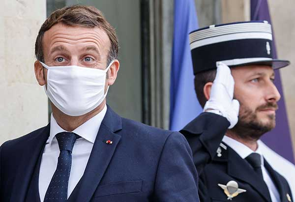 French President Emmanuel Macron at the Elysee Palace in Paris, on October 28. (AFP)