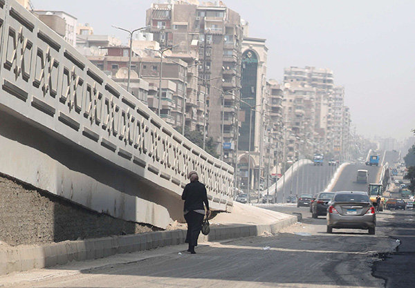 View of traffic near a newly constructed bridge amid the spread of the coronavirus disease (COVID-19), in Cairo, Egypt September 4, 2020. (REUTERS)