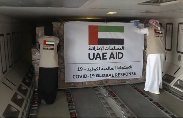 UAE cargo being fitted for air shipment. WAM