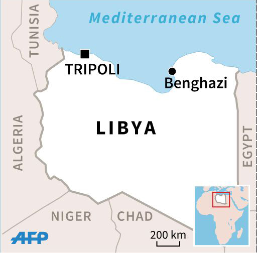 Libya and its neighbours.