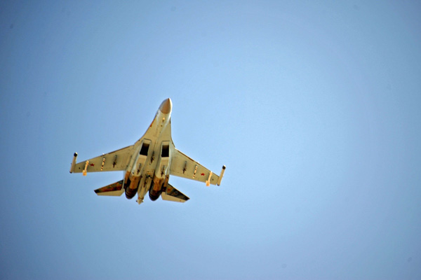 A file picture of Russian Sukhoi Su-35 fighter taking off from the Russian military base of Hmeimim near Syria's Latkia governorate. (Reuters)