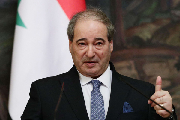 A 2020 file picture of Syrian Foreign Minister Faisal Mekdad. (AFP)