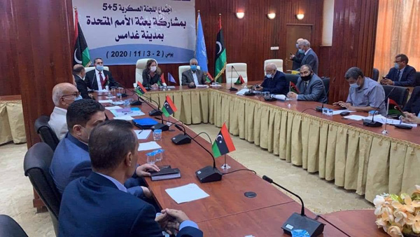 A view of the joint military commission meeting, November 3,  in Ghedames, Libya.( Facebook)