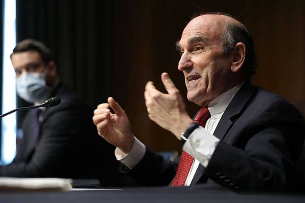 US State Department Special Representative for Venezuela Elliot Abrams testifies before the Senate Foreign Relations Committee, August 4. (AFP)