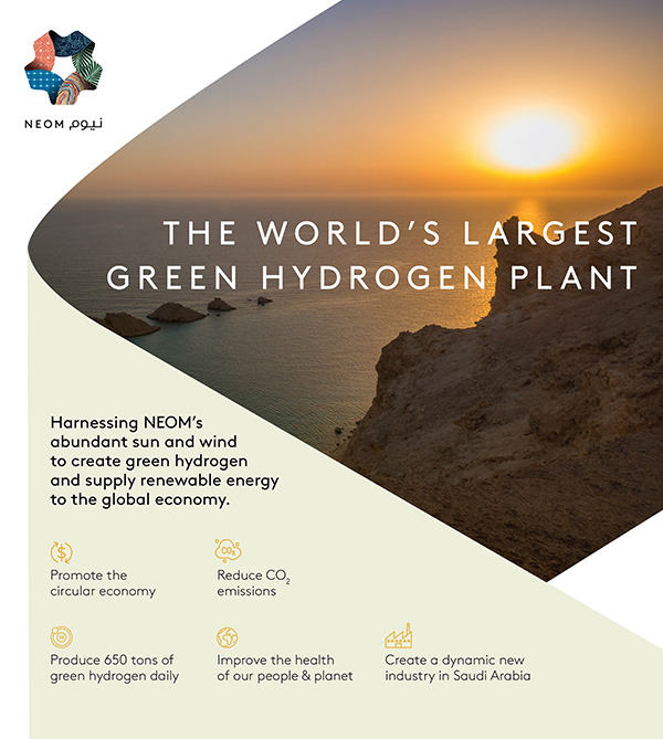 NEOM is developing the world's largest renewable hydrogen project. (NEOM facebbook page)