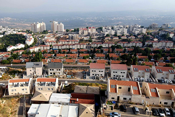 A view shows the Israeli settlement of Ariel in the occupied West Bank. (Reuters)