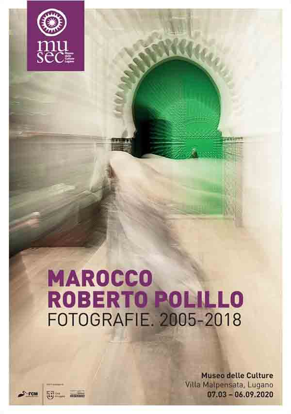 The works on display and in the catalogue derive from photographs taken by Roberto Polillo during seven trips to Morocco, between 2005 and 2018. (MUSEC website)