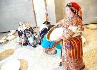 Celebrating identity. Algerian Berber women prepare couscous as they mark the Yennayer New Year in the village of Ait el-Kecem, south of Tizi-Ouzou, east of Algiers. (AFP)