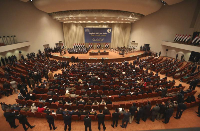 Will of the people. Iraqi lawmakers attend a session of parliament in Baghdad. (AP)