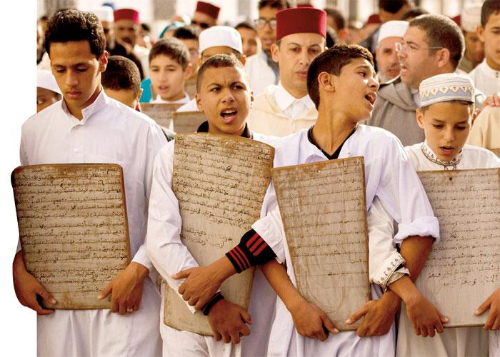 Moroccan children head to the Great Mosque of Sale to pray for rain, last November. (AFP)