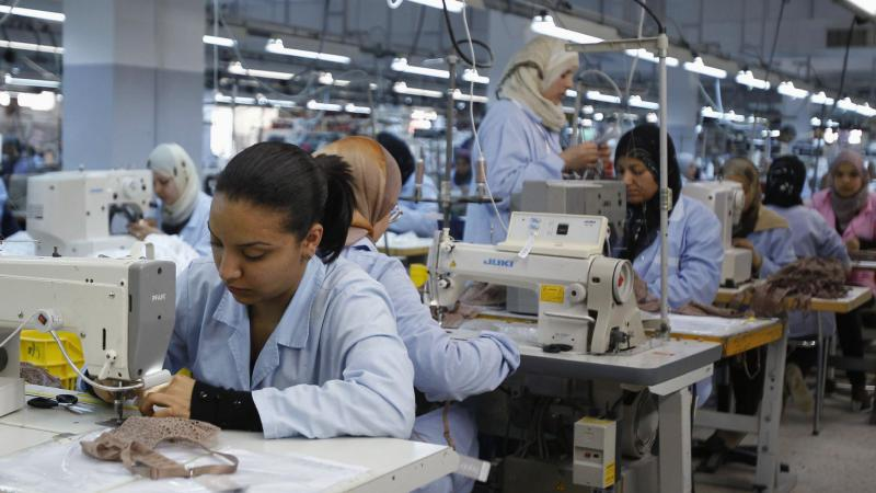Tunisian female workers at an apparel factory in Sfax. 			(Reuters)