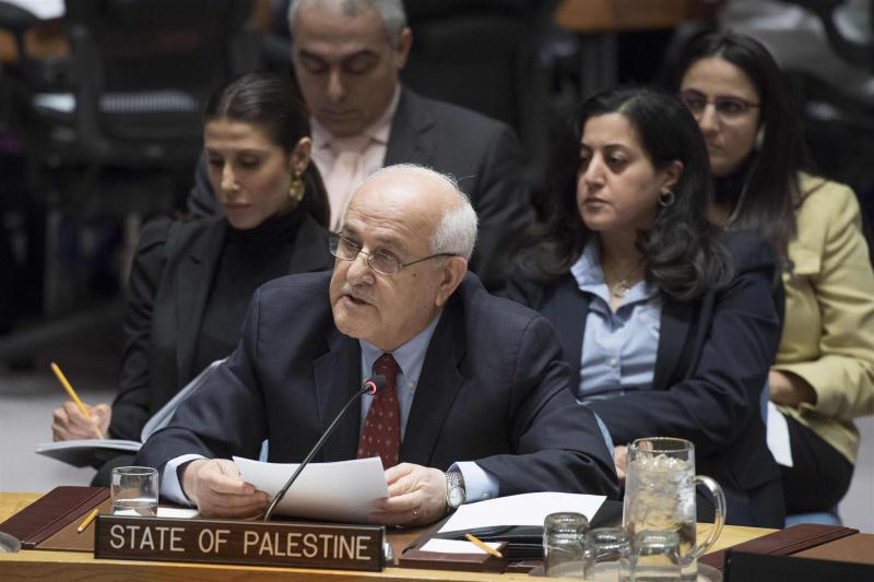 A political morass. Permanent Observer of the State of Palestine to the UN Riyad H. Mansour addresses a Security Council meeting on the situation in the Middle East, on January 25.                                                        (AFP)