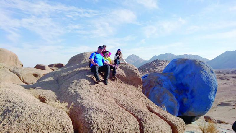 Visitors are seen at the Blue Desert in South Sinai.  (Wikimedia)