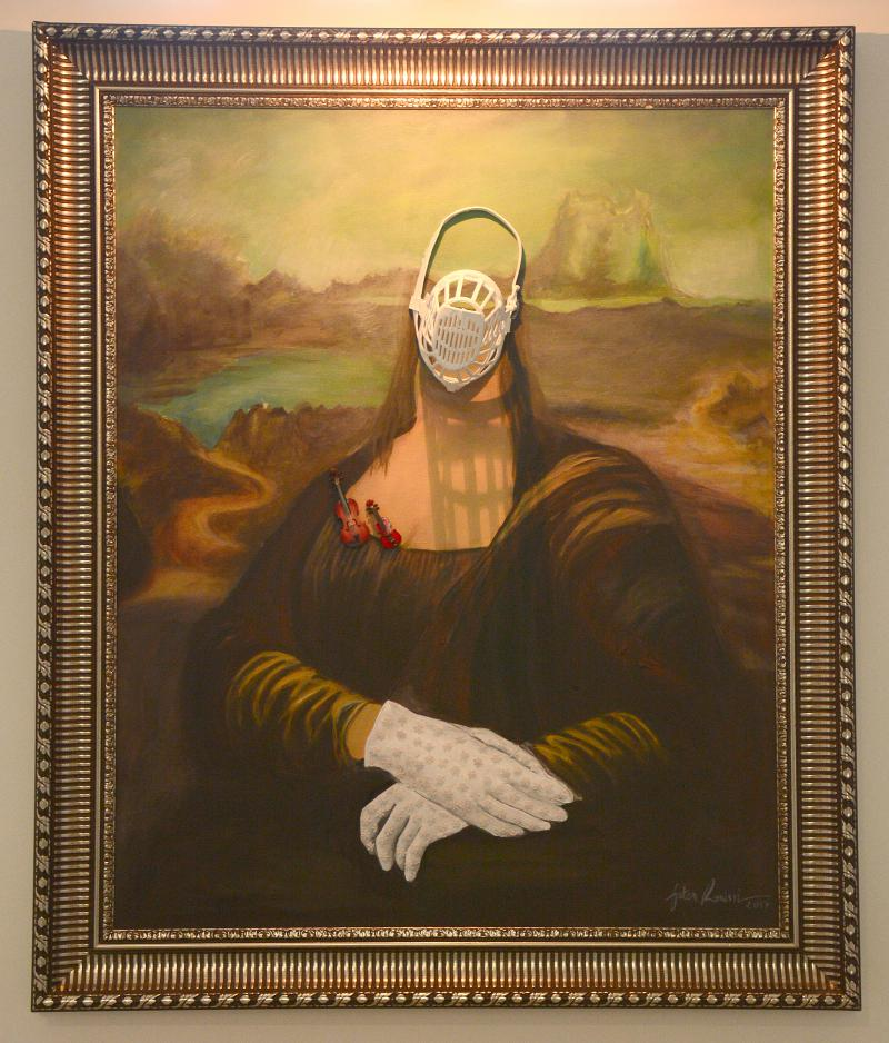 "The face of cacophony. Faten Rouissi's ""Lisa, the Barker""  painting on display at the Bardo National Museum.         (Khaoula ben Amara)"