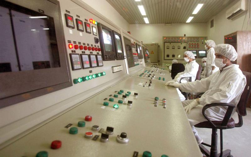 A file picture shows Iranian technicians in a control room at the Uranium Conversion Facility in Isfahan. (Reuters)