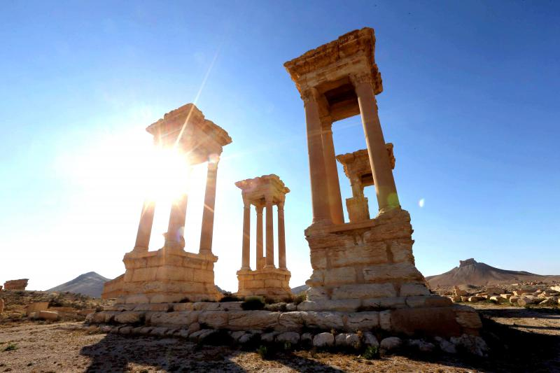 Prized heritage. A view at the ancient Syrian city of Palmyra.                                     (AFP)