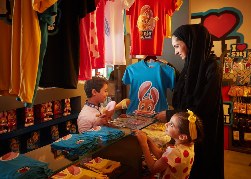 A shop catering to children at Al Shanasiyah Souq in Sharjah.
