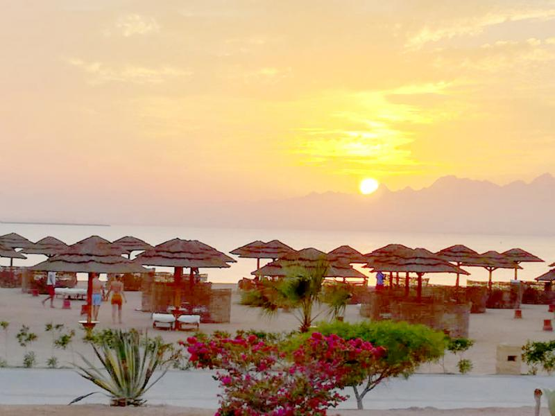 Sunset at Soma Bay resort in Egypt.(Ahmed Megahid)