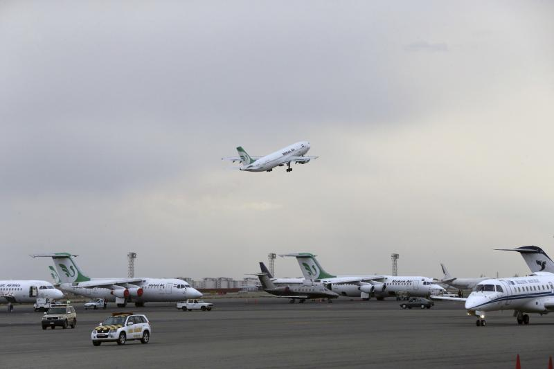 Narrowing horizons.  A Mahan Air passenger plane takes off from Mehrabad Airport in Tehran. (AP)