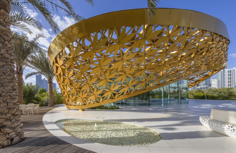 The exterior view of the nature-inspired main structure of the Butterfly House.(Shurooq)