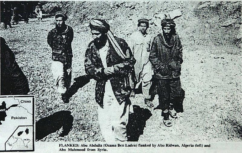 Federal prosecutors in Chicago say that this photo, published May 4, 1988, in the English-language newspaper 'Arab News,' shows Enaam Arnaout (R), head of the Palos Hills, Illinois branch of the Islamic charity Benevolence International Foundation, walkin