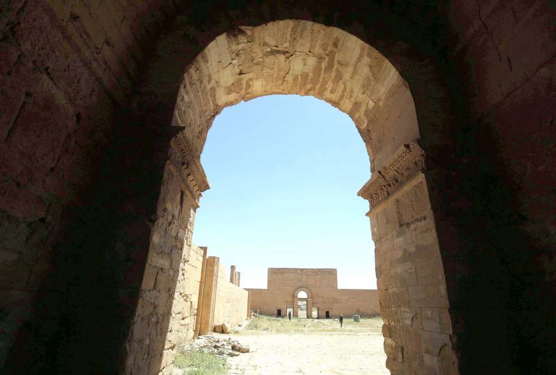 A portal to ancient history. UNESCO-listed ancient city of Hatra, south of Mosul.                                                                                          (AFP)