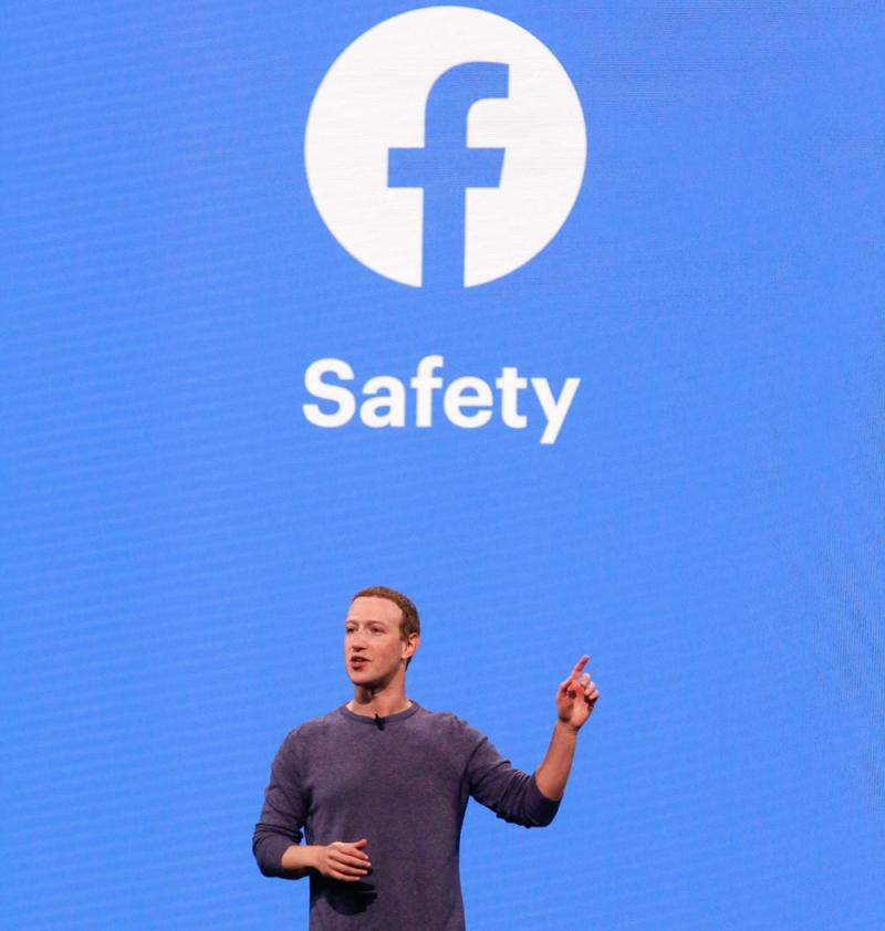 Facebook CEO Mark Zuckerberg speaks at a conference in California, April 30. (AFP)