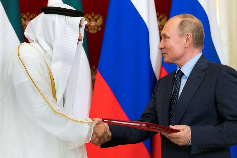 Abu Dhabi Crown Prince discusses key issues with Russia's