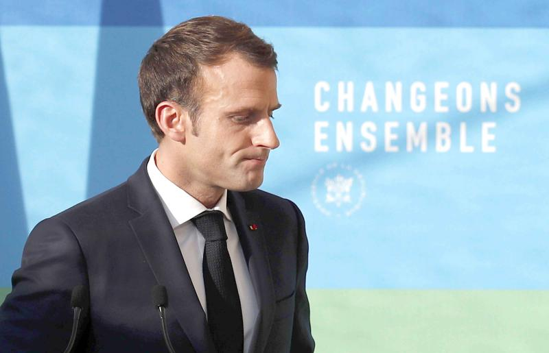 Geopolitical myopia? French President Emmanuel Macron leaves after delivering a speech at the Elysee Palace in Paris.(AP)