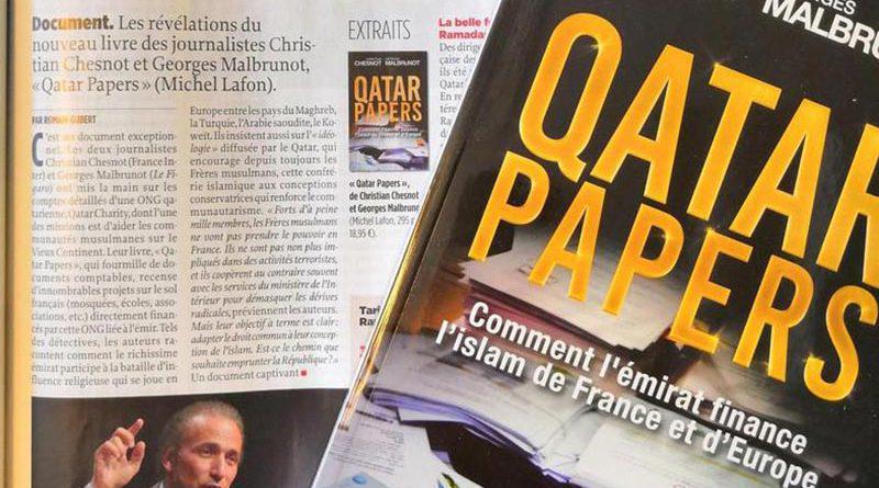 "A copy of ""Qatar Papers,"" written by Christian Chesnot and Georges Malbrunot."