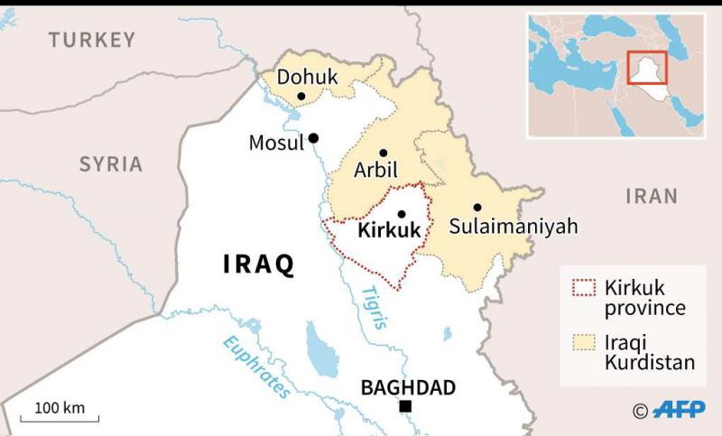 A map identifying Iraqi provinces. (AFP)