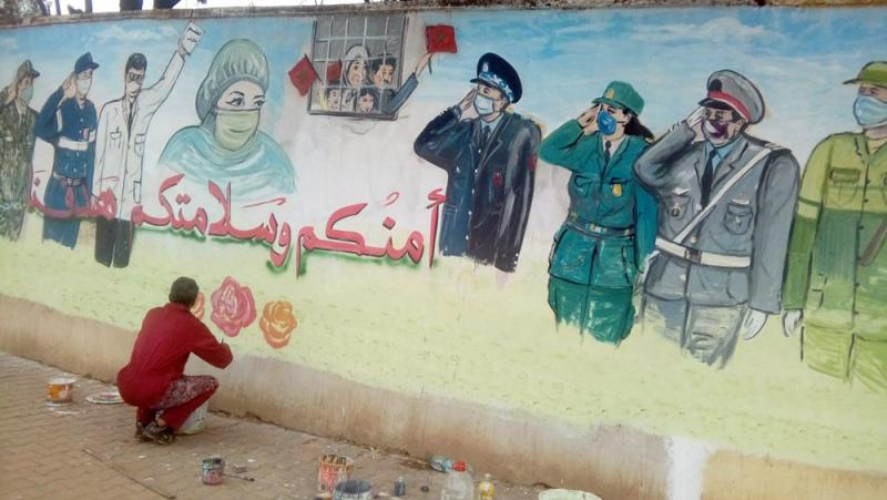 Moroccan painter honours frontline COVID-19 workers with giant mural | | AW