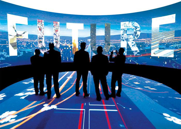 Image result for 3-D presentation during an exhibition on Neom, photos