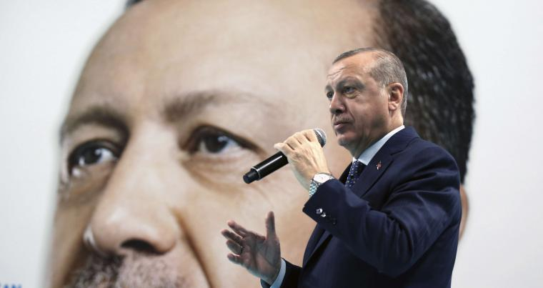 Turkey's President Recep Tayyip Erdogan addresses his supporters in Duzce, Turkey, on December 31. (AP)