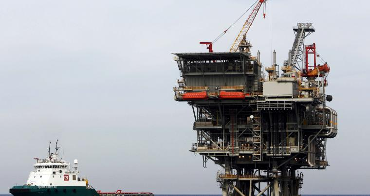 A view of an Israeli gas platform in the Mediterranean sea, west of Israel's port city of Ashdod.                                        (Reuters)