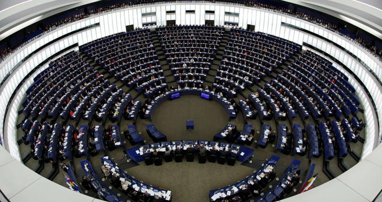 Members of the European Parliament take part in a voting session in Strasbourg, France, on February 7. (Reuters)