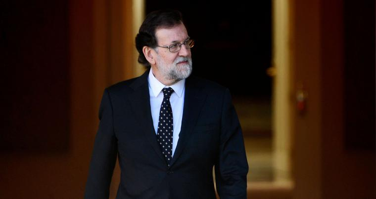 Spanish Prime minister Mariano Rajoy at 'La Moncloa' palace in Madrid on February 6. (AFP)