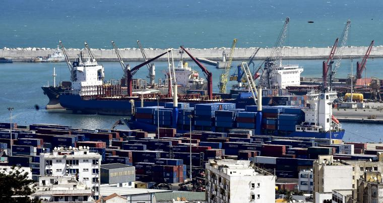 Algeria's main commercial harbour for importing and exporting goods in Algiers. (AFP)