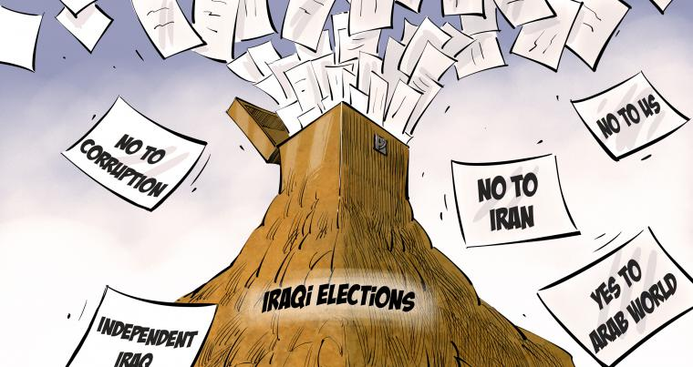 Iraqis vote for key issues © Yaser Ahmed for The Arab Weekly