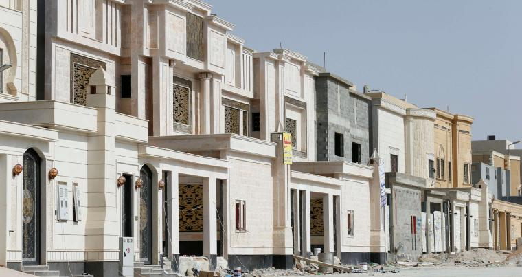 Newly constructed private villas are seen near Riyadh, Saudi Arabia, on May 29. (Reuters)