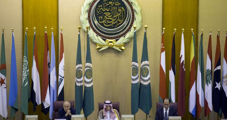 Serious concerns. Arab League chief Ahmed Aboul Gheit (L), Saudi Foreign Minister Adel al-Jubeir (C) and Hossam Zaki, the League's deputy secretary-general, attend Arab foreign ministers meeting in Cairo, on May 17.(AP)